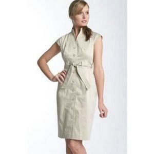 Calvin Klein Khaki Trench Dress Size 10